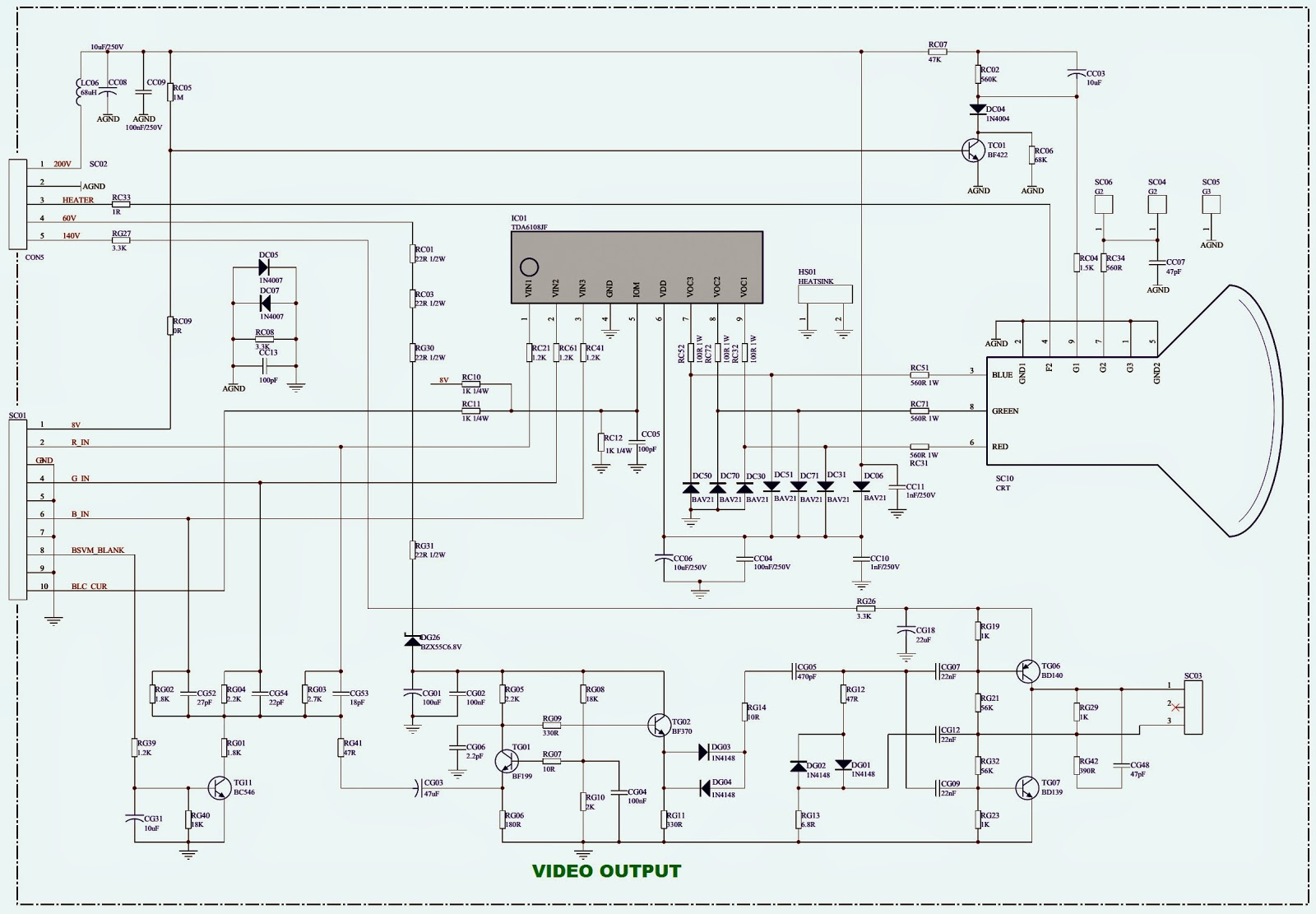 POWER [SMPS]SCHEMATIC (Circuit Diagram)- THOMSON 32WSC910P
