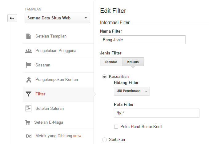 Filter Post Preview, Preview Template Dan Mobile Preview Di Google Analytics