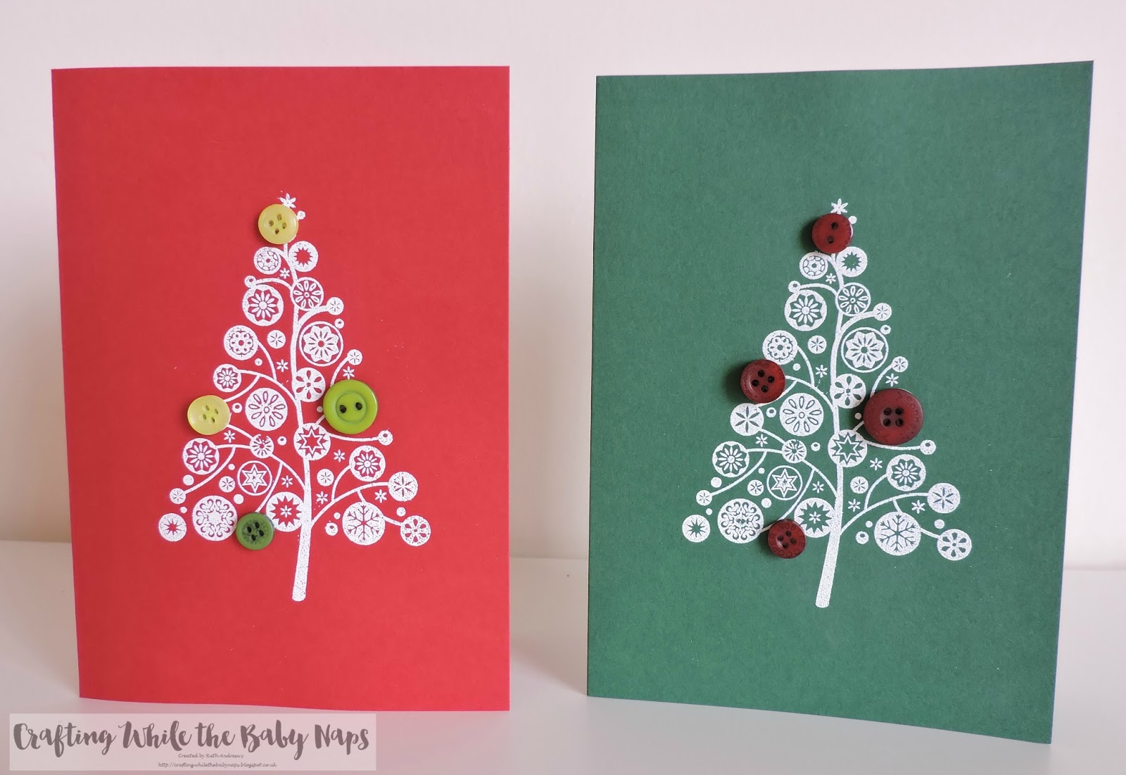 ive gone with fairly simple designs this time round it saves on the stress levels plus you can make multiples with much more ease - Simple Christmas Cards