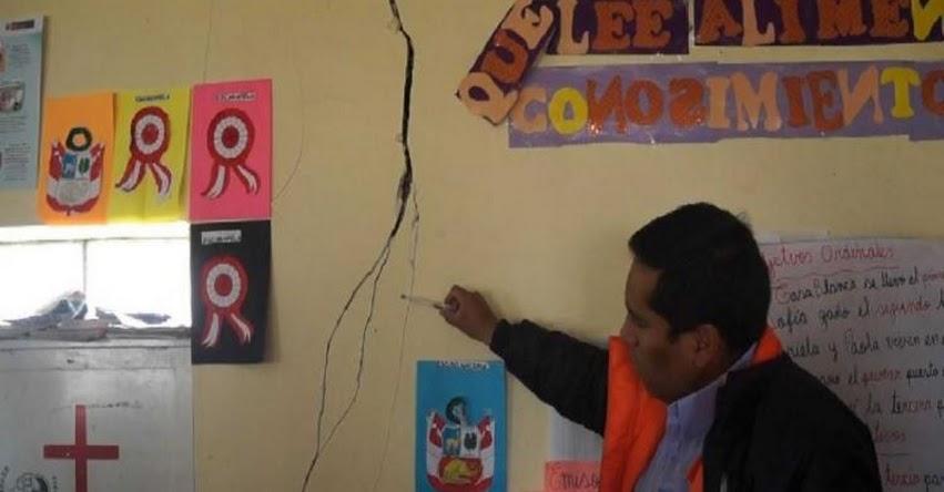 Sismo en Junín ocasiona rajaduras en ambientes de tres colegios, según reporte de la Oficina de Defensa Civil de Municipalidad Provincial de Huancayo