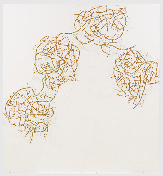 Roni Horn Or 7, 2014 powdered pigment, charcoal, graphite, colored pencil, and varnish on paper 278.1 x 257.8 cm