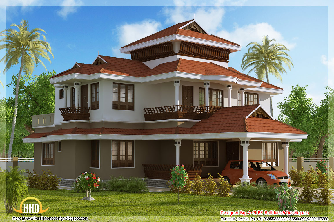 May 2012 kerala home design and floor plans for Traditional house style