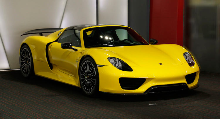 Rare Bright Yellow Porsche 918 Spyder Could Make You Wince