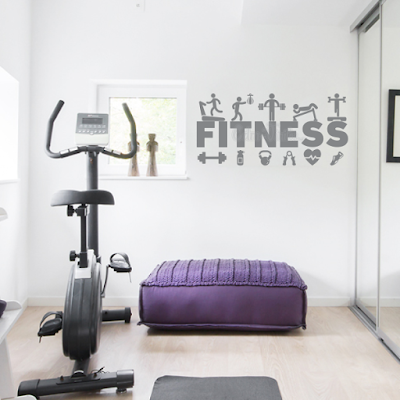 vinilo decorativo pared decoracion gimnasios fitness ejercicios