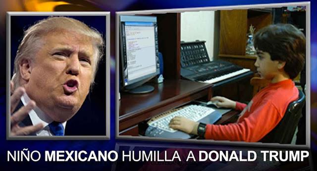 Niño genio Mexicano se burla de Donald Trump. Y lo dejo como un idiota