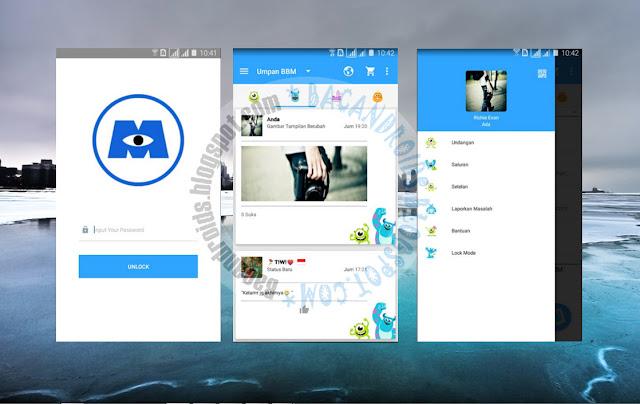download BBM Mod Thema Monster Inc Versi Terbaru 2.13.0.26 Apk