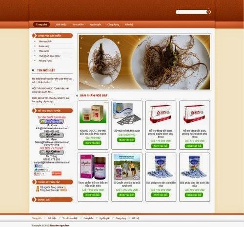 thiết kế website bán hàng dược phẩm