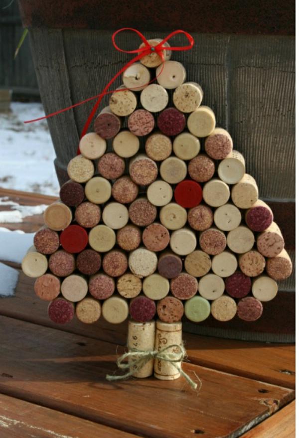 Árbol de navidad amantes del vino