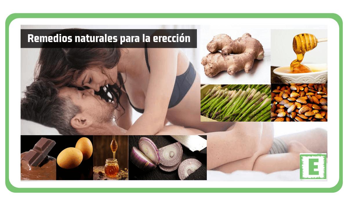 Remedios naturales para la erección
