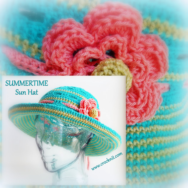 how to crochet, sun hats, crochet patterns, brimmed hats, women, girls,