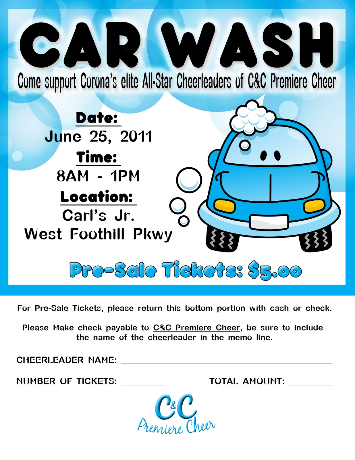 free car wash ticket template - photography and graphic designby khylia