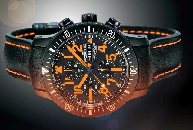 Fortis B 42 Black Mars 500 Day Date Limited Edition B