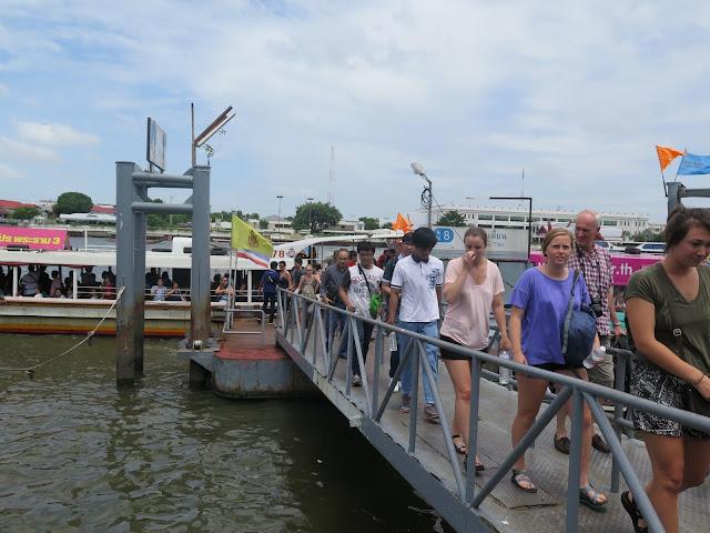 Embarcadero en en Río Chao Praya