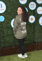Kayla Maisonet in Simple Outfit at Safe Kids Day in Los Angeles