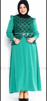 Model Baju Muslim Untuk Orang Gemuk Pesta