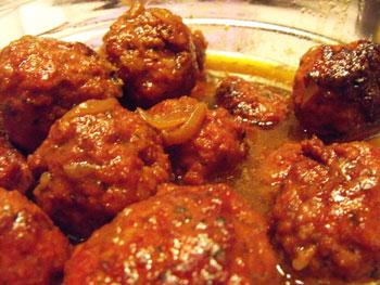 Boulettes de bœuf au fenouil et sauce tomate