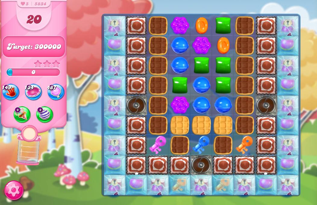 Candy Crush Saga level 5834