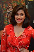 Mannara Chopra in deep neck Short red sleeveless dress Cute Beauty ~  Exclusive Celebrities Galleries 036.JPG