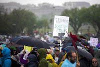 Scientists and supporters gather on the National Mall for the rally before the March for Science on April 22, 2017 in Washington, D.C. (Credit: Jessica Kourkounis/Getty Images) Click to Enlarge.