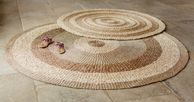 Natural Woven Round Rugs - Woven Home Decor