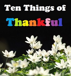 Ten Things of Thankful - Kindergarten Edition