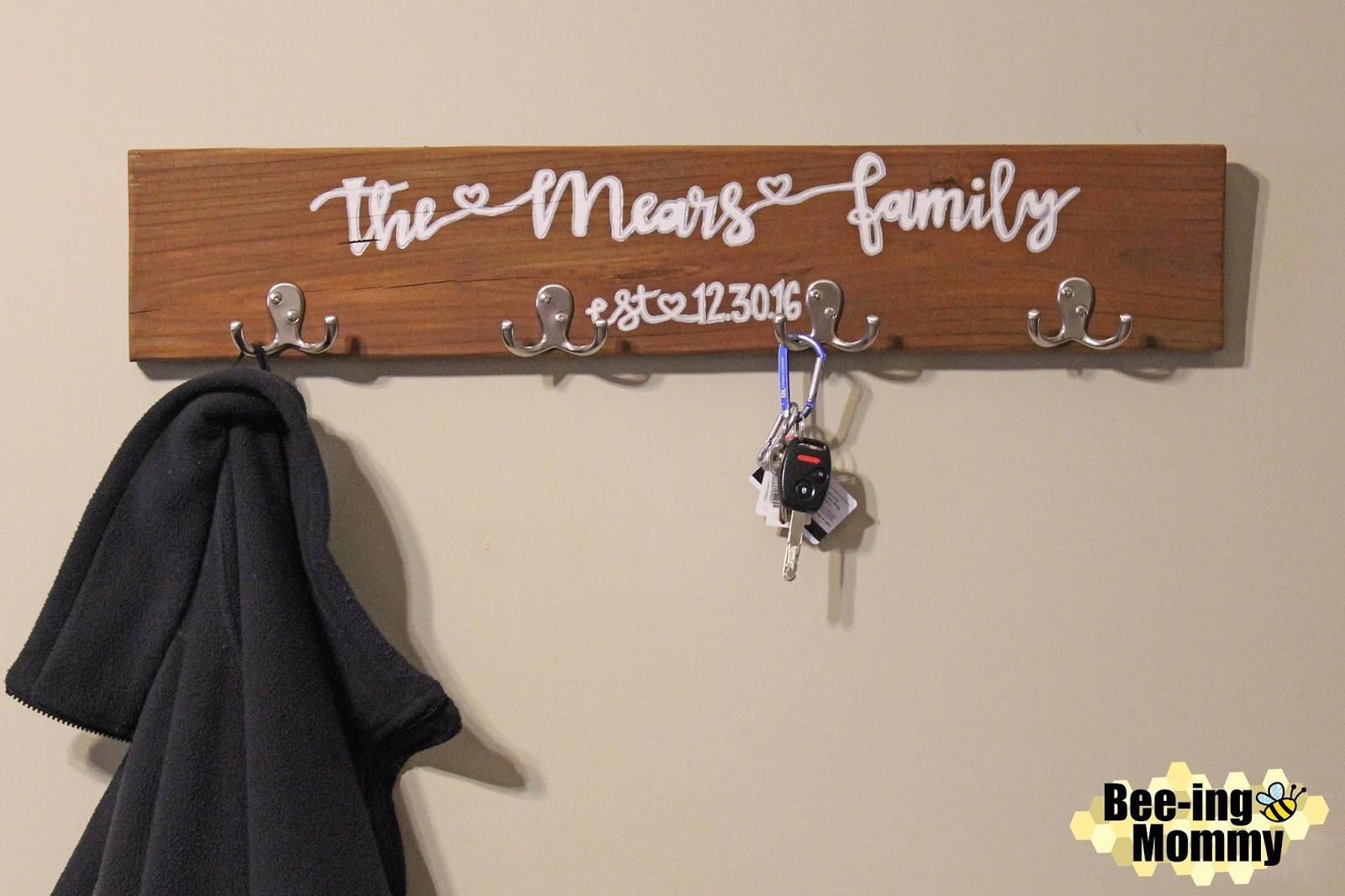 Personalized Wood Coat Rack