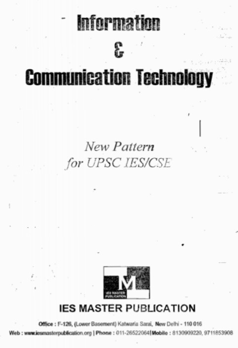 [PDF] Information And Communication Technology IES Master eBook