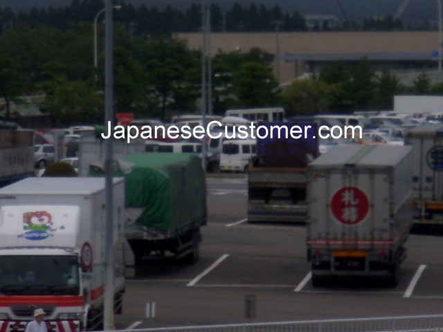 Japanese container trucks Copyright Peter Hanami 2007