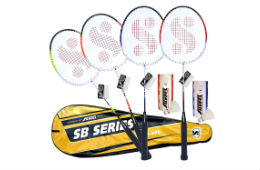 Silver's SB-990 Badminton Kit Set of 4 For Rs 725 (Mrp 1749) at Amazon