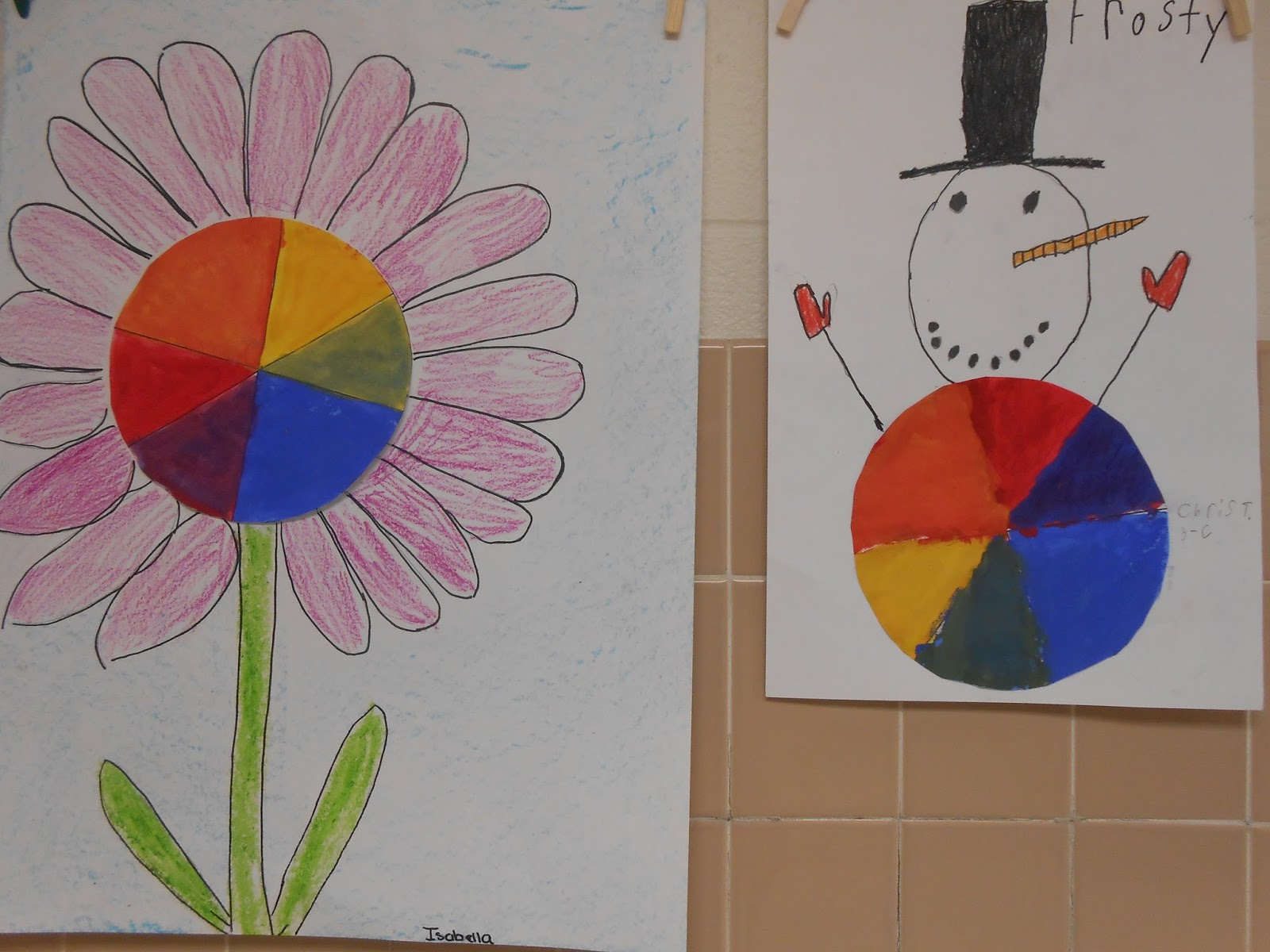 Transform Their Color Wheels Into Part Of A Realistic Drawing I Was Very Impressed With The Ideas Kids Developed And Effort They Put Adding