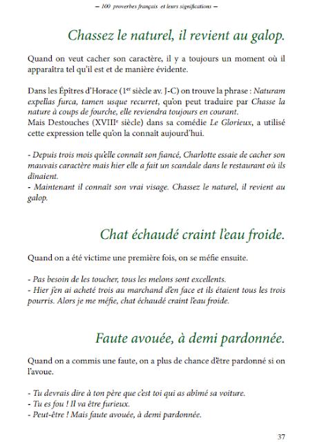 Télécharger 100 Proverbes français les plus courants pdf gratuit