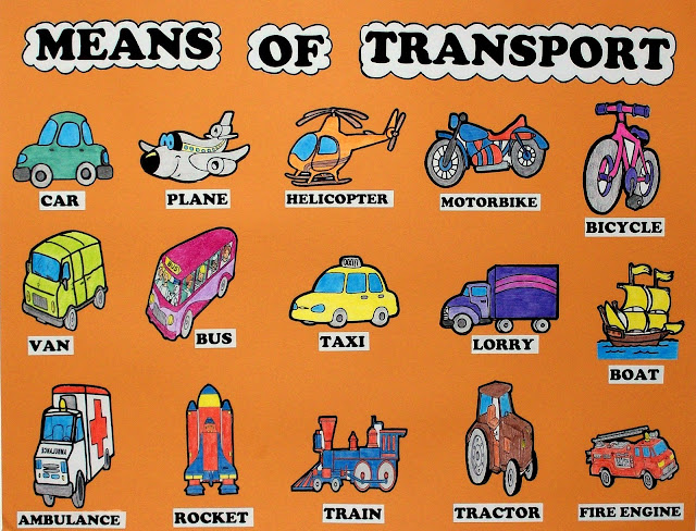 Resultado de imagen de means of transport for kids