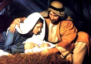 Foto de Nacimiento de Jesús con José y María