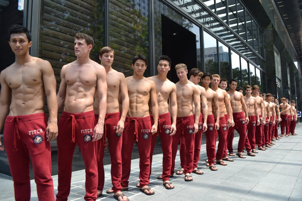 ... looking abercrombie fitch singapore s male models posed shirtless
