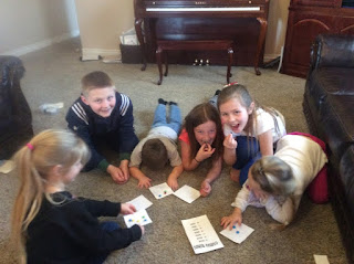 Piano Students playing Piano Group Lesson Game Interval Bingo