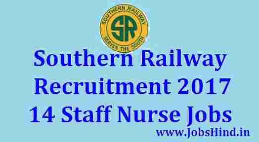 Southern Railway Recruitment 2017