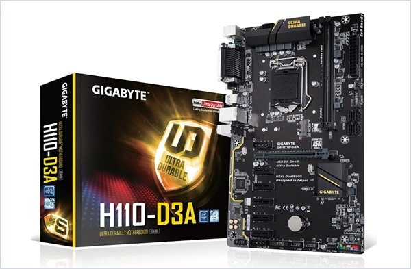 Motherboard Mining GIGABYTE GA H110 D3A LGA1151 Cryptocurrency