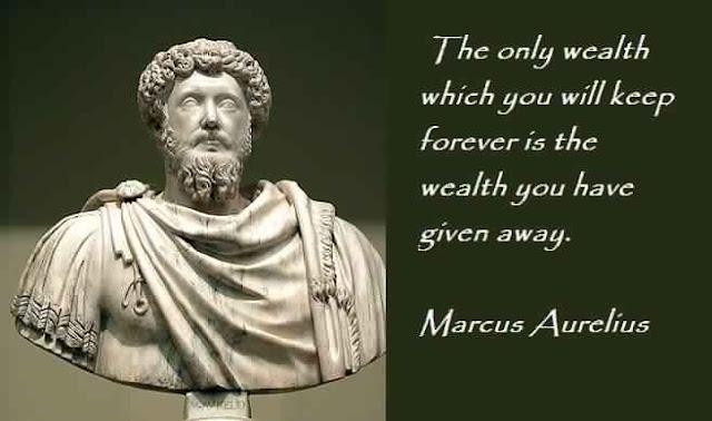 Marcus Aurelius Quote about Wealth