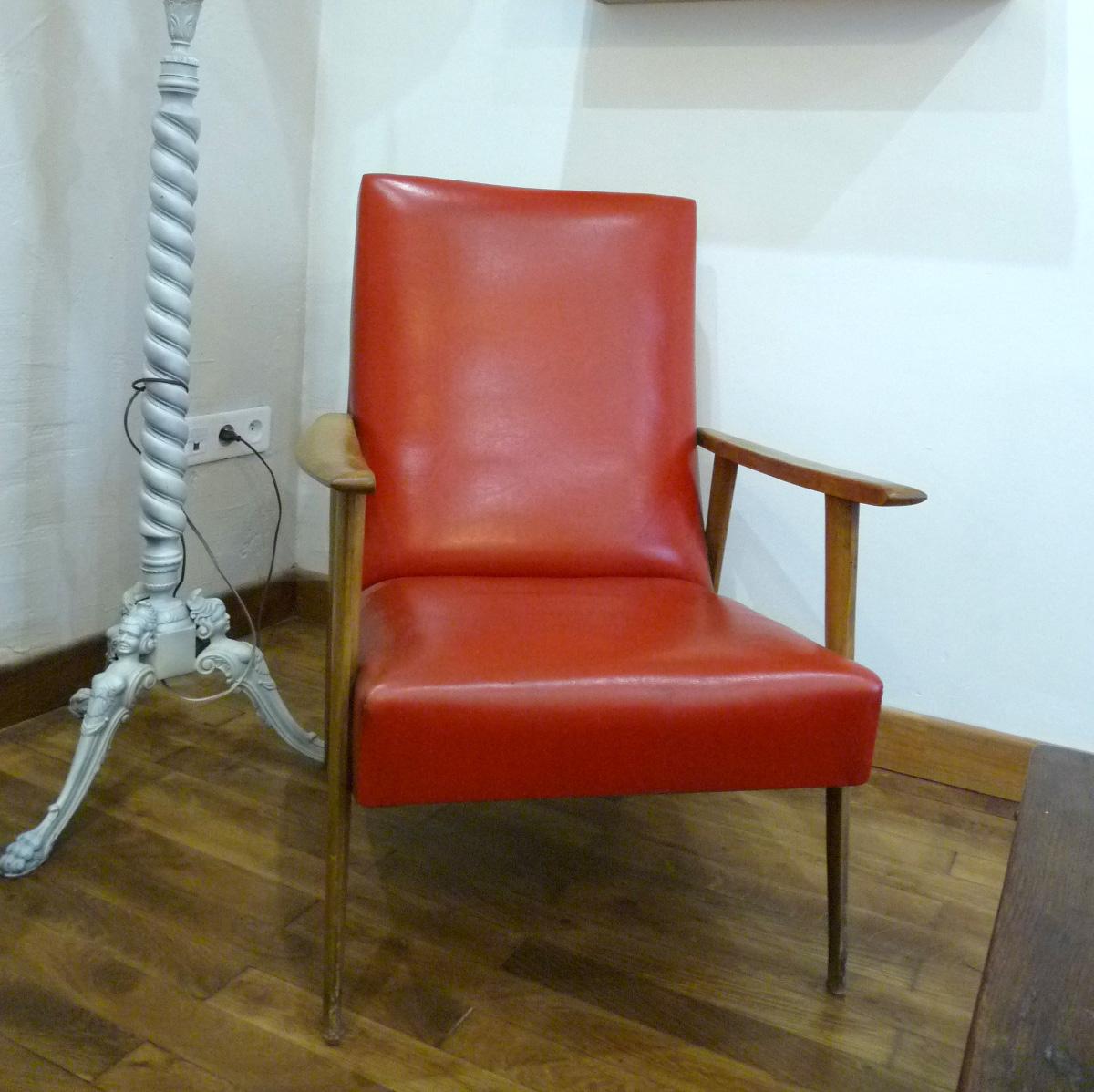 vieux fauteuils fauteuil club pirogue vintage bois et cuir. Black Bedroom Furniture Sets. Home Design Ideas