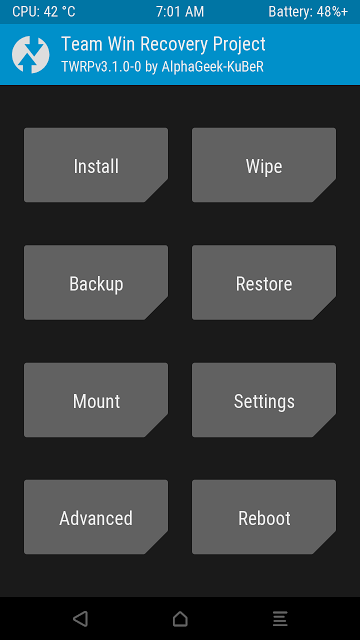 TWRP 3 1 0 Recovery For Coolpad Note 3 And Note 3 Lite