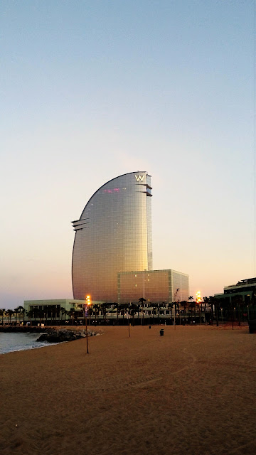 W hotel at the beach. It famous and luxury hotel. The location is at the beach.