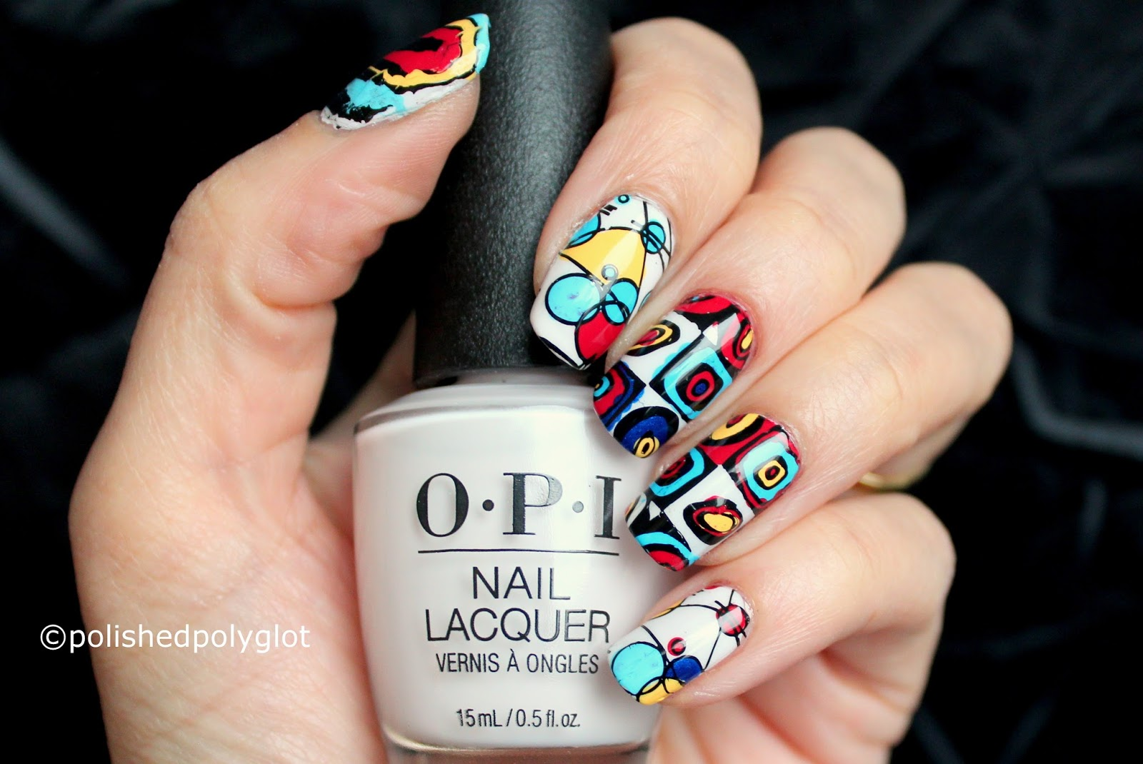 Nail Art │Modern Art Manicure [Nail Crazies Unite] / Polished Polyglot