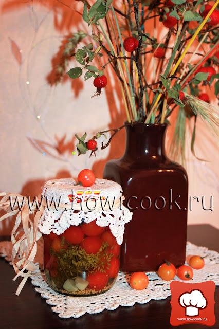 рецепт вкусных маринованных помидоров