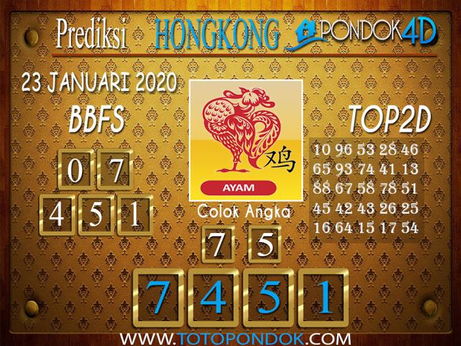 Prediksi Togel HONGKONG PONDOK4D 23 JANUARI 2020