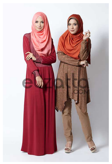 Model Baju Gamis Muslim Elzatta Terbaru