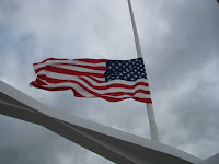 United States flag at half-staff