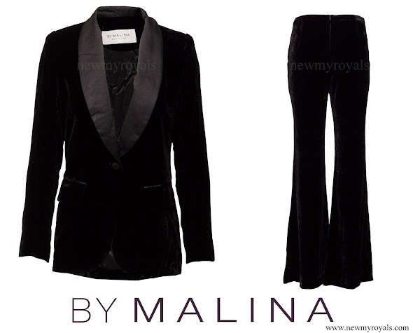 Princess Sofia wore By Malina Alma Tuxedo jacket and Oksana pants in the evening gala.
