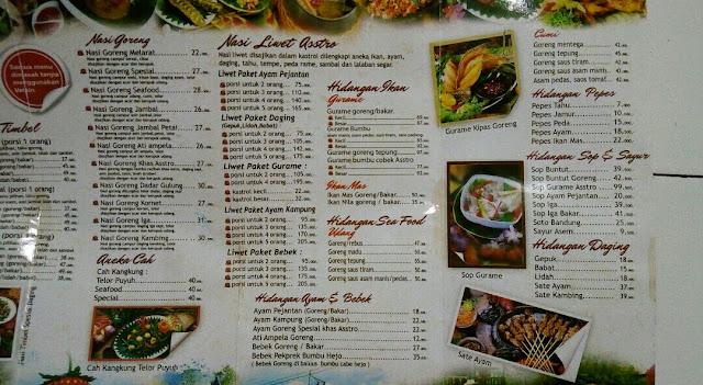 Menu Restaurant Asep Stroberi