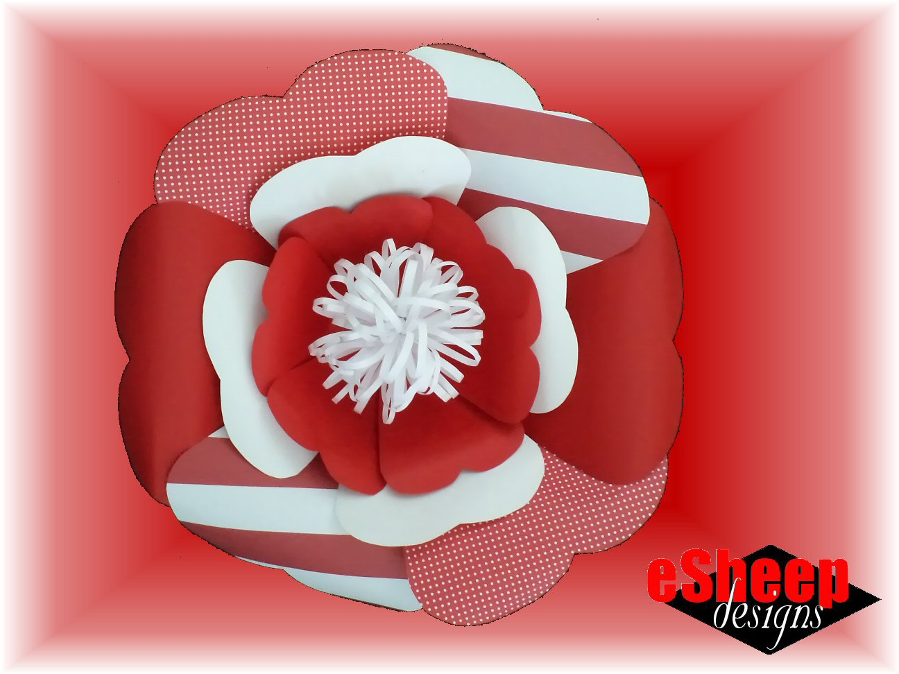 Scrapbook paper canada - A Giant Flower Made Out Of Scrapbooking Paper