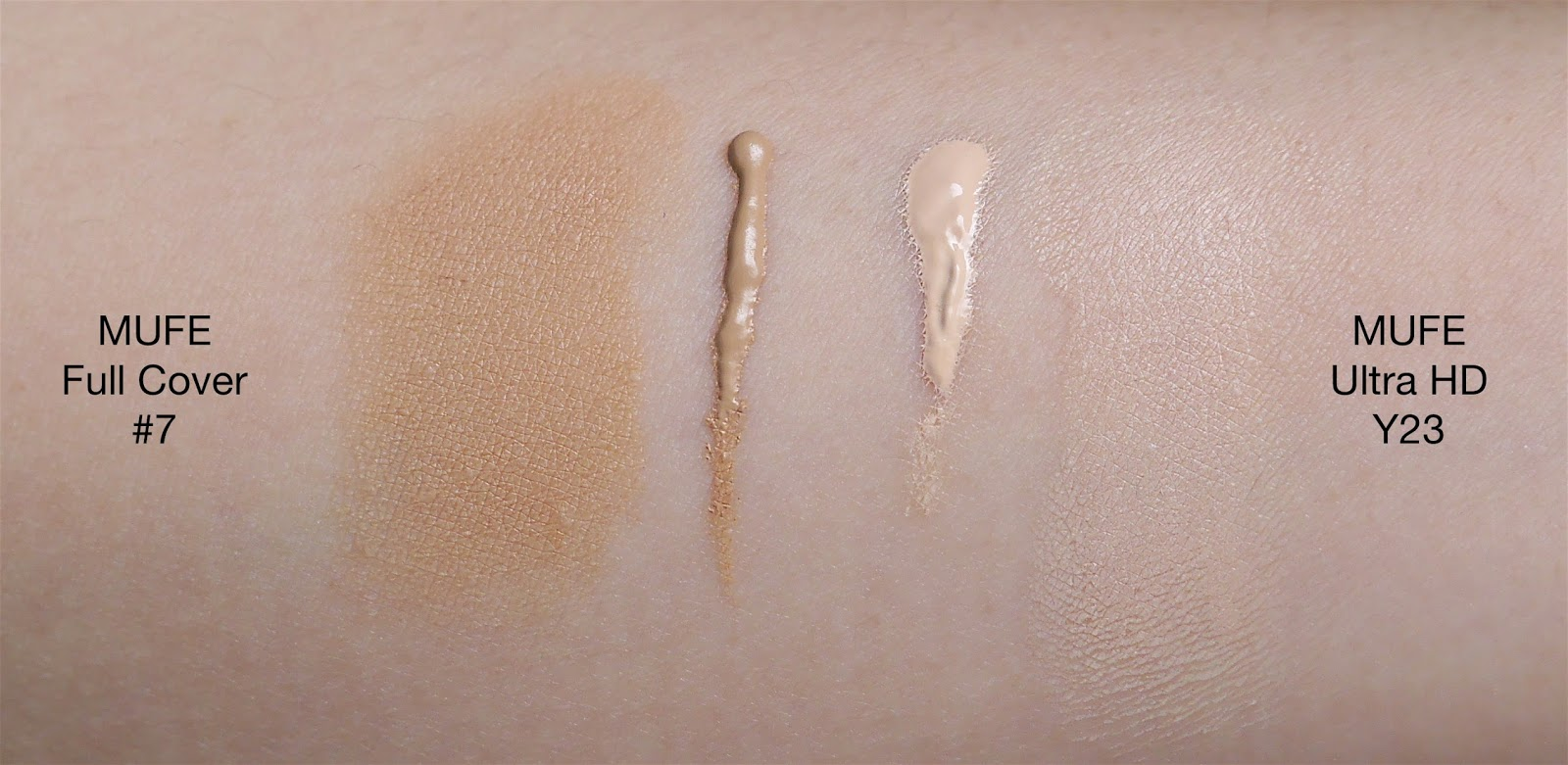 comparison make up for ever full cover concealer and ultra hd